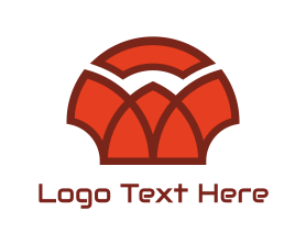 Shell - Red Abstract Shell logo design