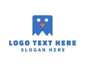 Educational - Blue Slimy Mascot logo design