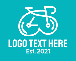 Fitness - White Clock Bike logo design