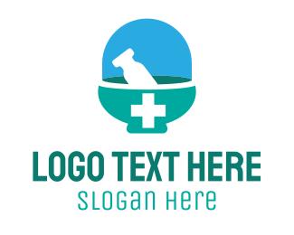 Medical Care - Medical Mortar logo design
