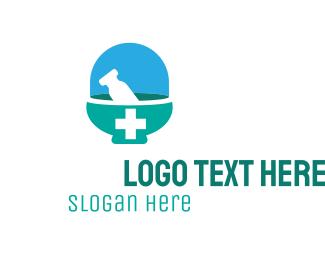 Medic - Medical Mortar logo design