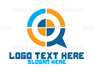 Company - Modern Target Chat logo design