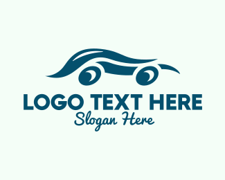 Car Accessories - Blue Swoosh Car logo design