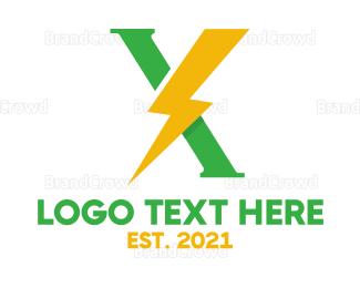 Eletrician - Lightning X logo design