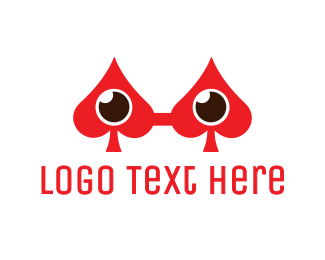 Red Eye - Spade Eyeglass logo design