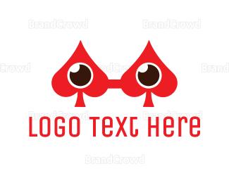 Card Game - Spade Eyeglass logo design