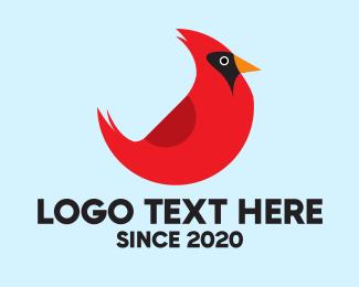 Red Bird - Cardinal Bird logo design