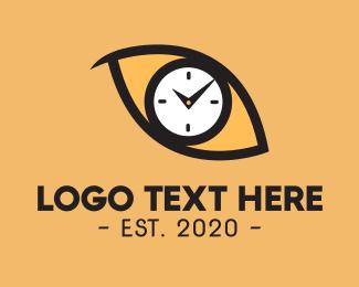 Countdown - Cat Eye Clock logo design