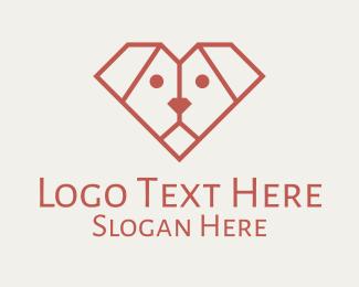 Minimalist - Minimalist Geometric Dog logo design