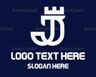 Typography - Royal J Outline logo design