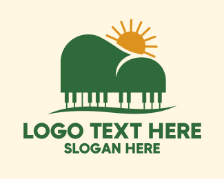 Piano Maker - Piano Mountain View logo design
