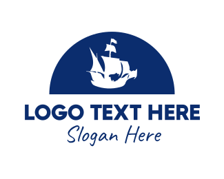 Seaman - Pirate Ship logo design