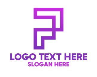 Violet - Violet Digital P logo design