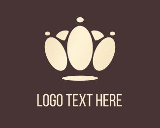 Footprint - Crown Paw logo design