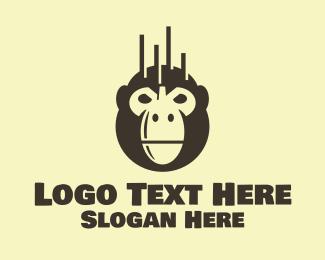 Ape - Black Orangutan Bomb logo design