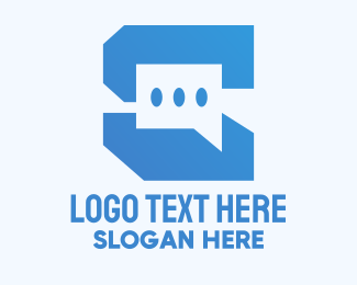 Message App - Technology Chat App logo design