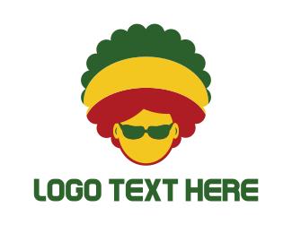 Dj - Afro Rasta logo design