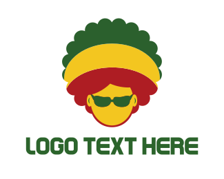 Island - Afro Rasta logo design