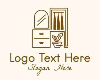 Interior - Interior Furnishing Outline logo design