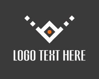Pointer - White Arrow logo design