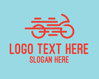 Biking - Orange Bike Repair Shop logo design