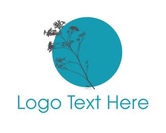 Florist - Blue Plant logo design
