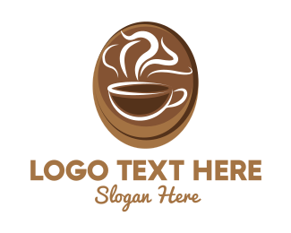Jamaican - Brown Coffee Cup logo design