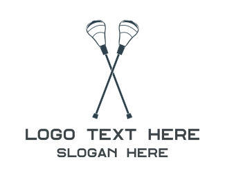 Lacrosse - Blue Twin Crosse logo design