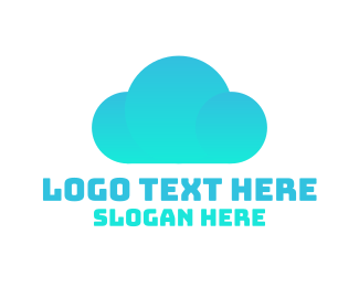 Cloud Service - Blue Cloud logo design