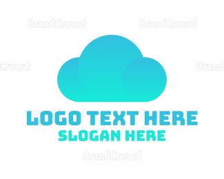 File Transfer - Blue Cloud logo design