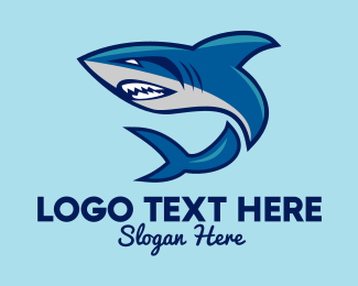 Animal - Blue Shark Mascot  logo design