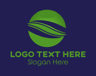 Business - Simple Green Business Globe logo design