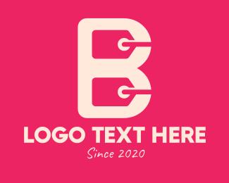 Online Order - Shopping Letter B logo design