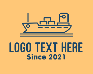 Destroyer - Cargo Ship Tanker logo design