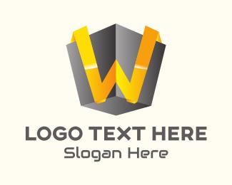Three-dimensional - 3D Tech Letter W logo design