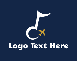 Delta - Musical Airplane logo design
