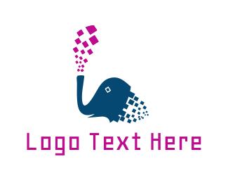 Pixel - Pixel Elephant logo design