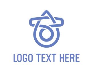 Link - Purple Clip  logo design