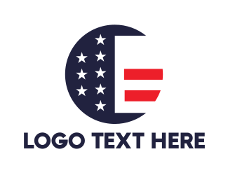 Congress - Round American Flag logo design