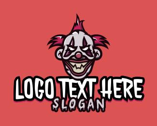 Horror - Evil Clown  logo design