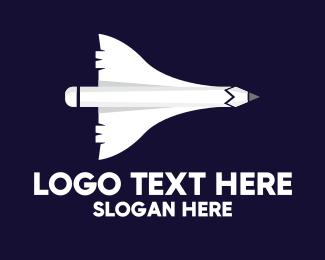 Designs - Aircraft Pencil logo design