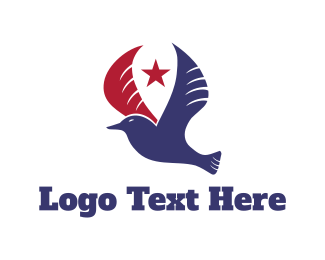 American - Patriotic Bird logo design