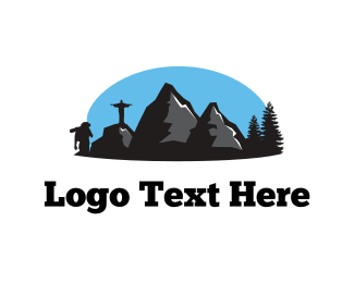 Backpacking - Adventure Landscape logo design
