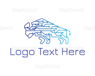 Cryptocurrency - Techno Bison logo design