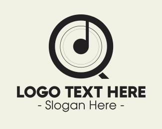 Music Equipment - Musical Letter Q logo design