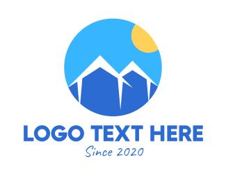 Mountain Range - Blue Mountain Housing Property logo design