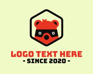 Twitch - Bear Bandit Badge logo design