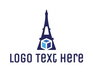 Eiffel - Eiffel Cube logo design
