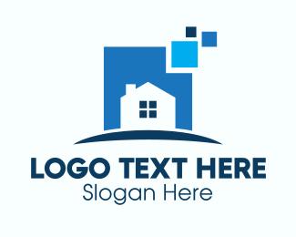 Ad - Online House For Sale logo design