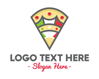 Casual Dining - Italian Pizza Slice Restaurant logo design